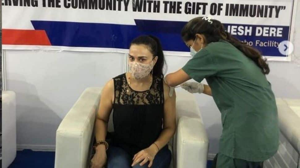 Preity Zinta is vaccinated