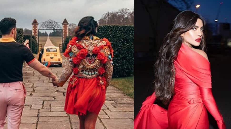 Trending: Priyanka Chopra's blood red jacket with Goddess Kali motif stuns fans, viral pic shows actress holding hands with hubby Nick Jonas!