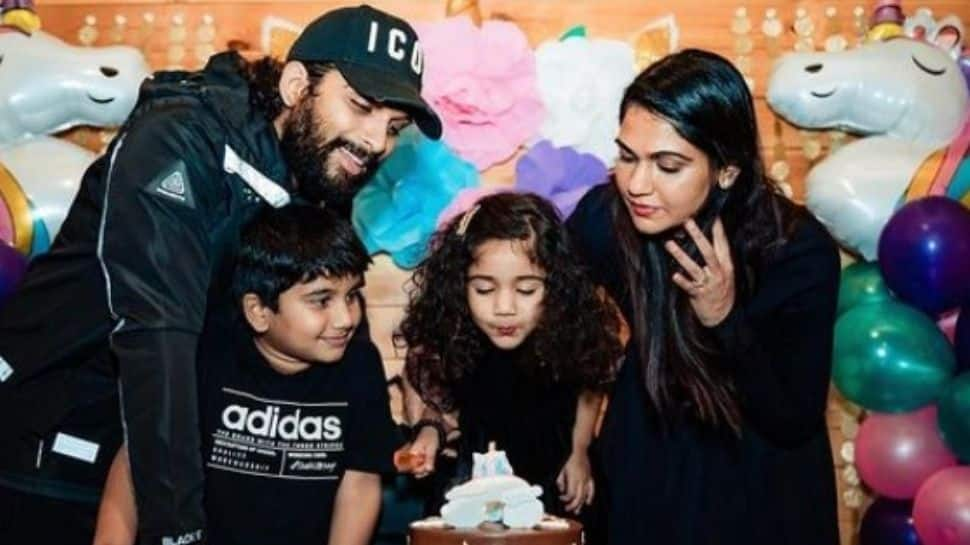 Allu Arjun finally reunites with kids after testing COVID negative, shares an emotional video!