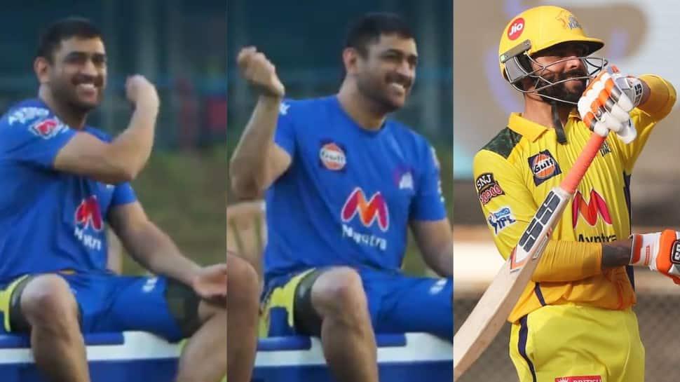 "IPL 2021: CSK skipper MS Dhoni imitates Ravindra Jadeja's ""sword"" celebration, video goes viral – WATCH"