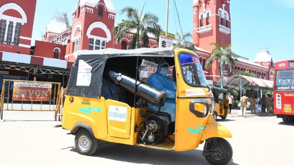 COVID-19: Chennai NGO arranges free oxygen, hospital drop facility through innovative auto rickshaw service