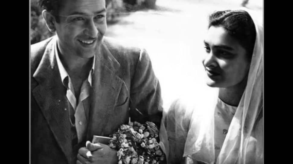 Karisma Kapoor shares a vintage photo of late grandfather Raj Kapoor with wife Krishna!