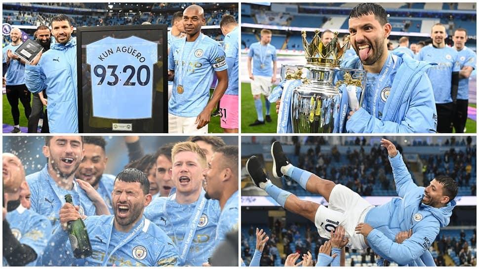Sergio Aguero breaks Wayne Rooney's record on Manchester City farewell