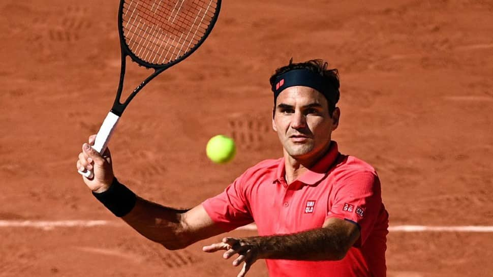 Roger Federer Playing in his fourth match of the year
