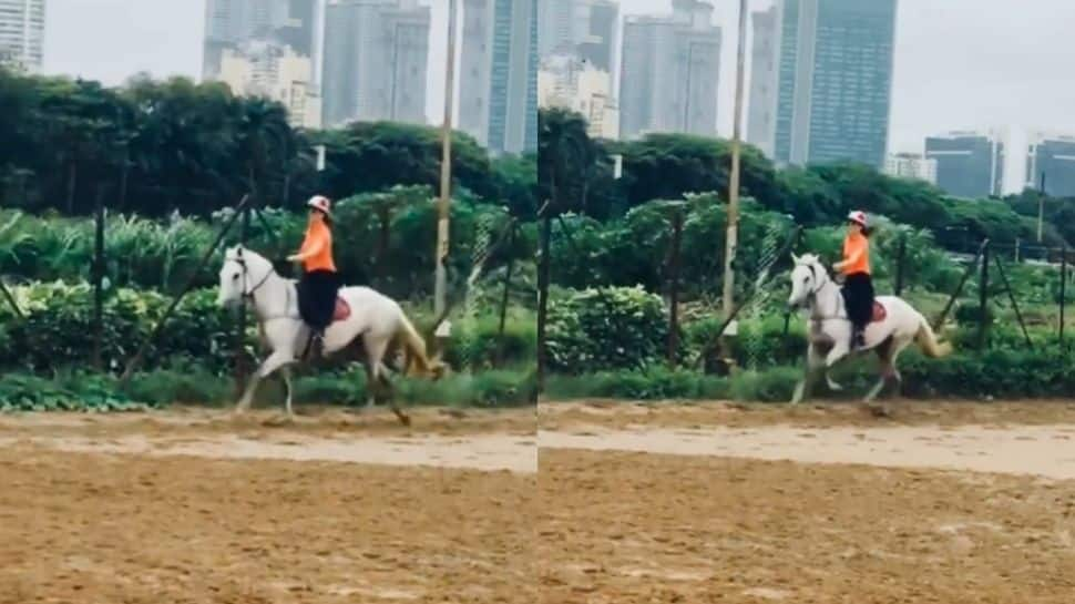 Kangana Ranaut spends her Sunday morning horse riding, netizens call her 'Jhansi Ki Rani' - Watch
