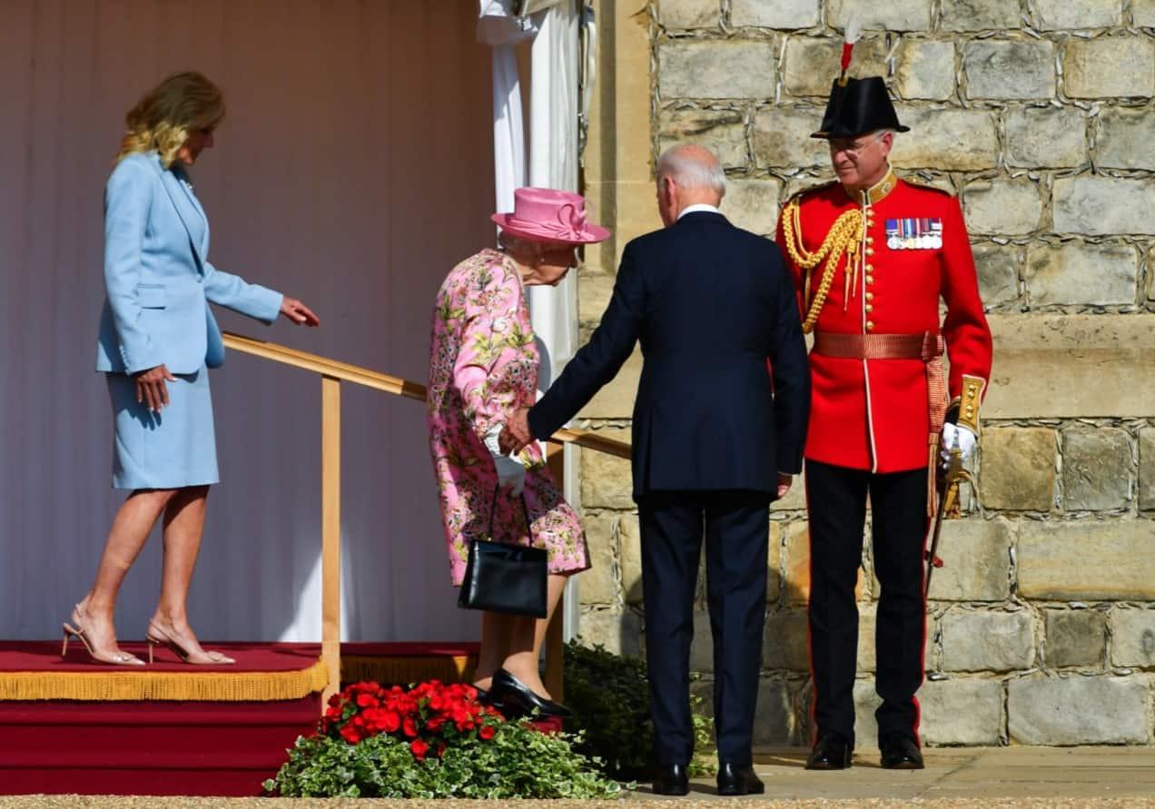 Queen Elizabeth and Joe Biden