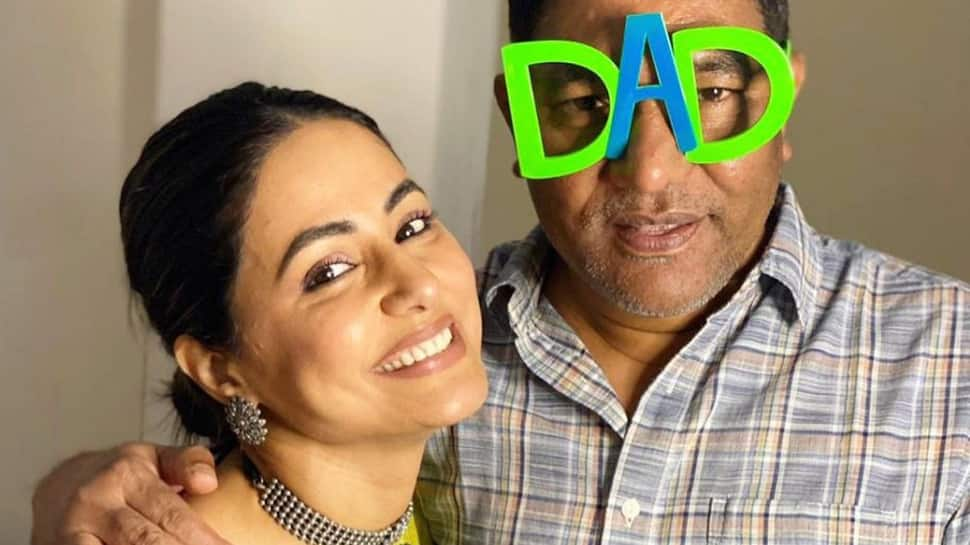 Father's Day 2021: Hina Khan pens a heartfelt note for father, shares unseen photos!