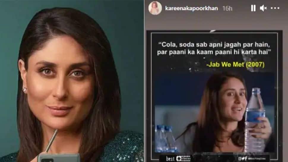 After Cristiano Ronaldo, Kareena Kapoor endorses water over Coca-Cola with hilarious 'Jab We Met' meme