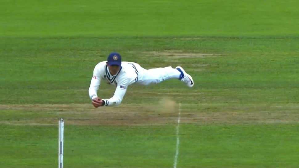 WTC Final: Shubman Gill takes a stunning diving catch to dismiss Ross Taylor - WATCH