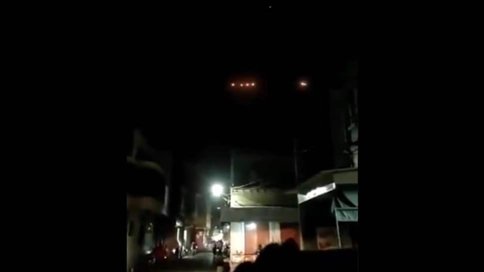 UFO spotted? Mysterious shining lights sighted in Gujarat sky - Watch