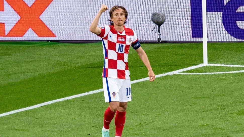 Croatian playmaker Luka Modric is the most-capped footballer for his national side with 139 caps. (Source: Twitter)
