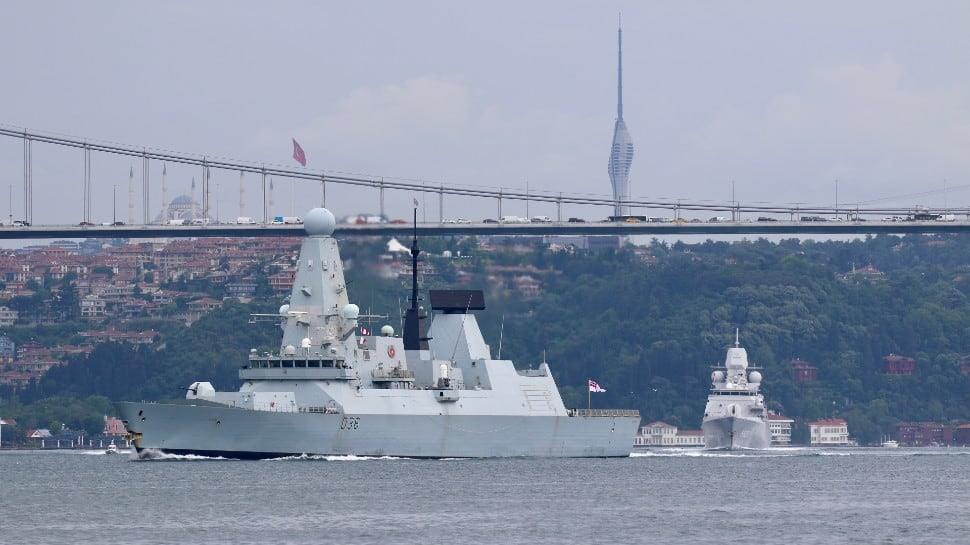 Russian forces fire warning shots at British navy ship in Black Sea