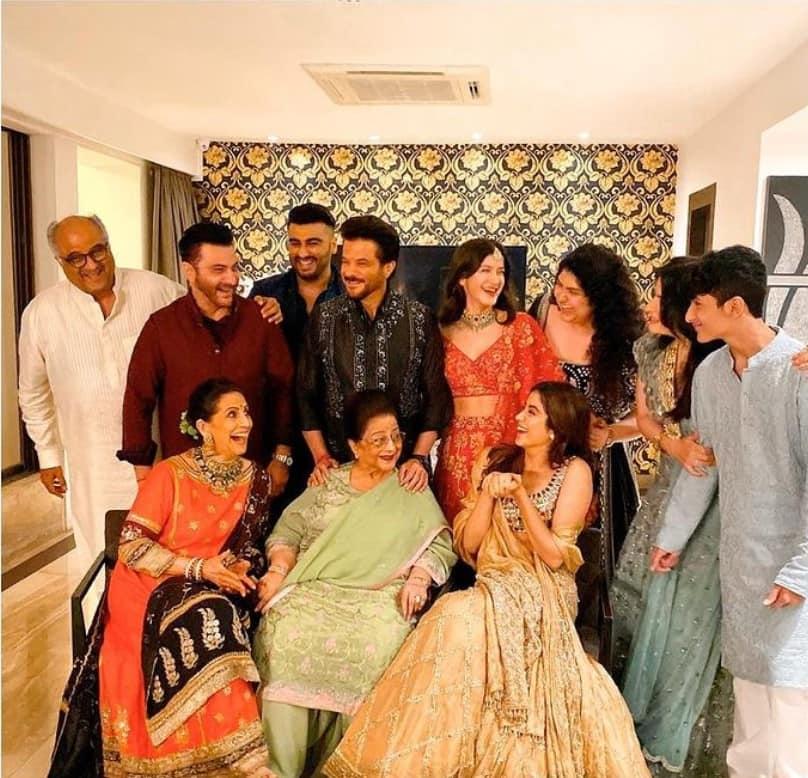 The Kapoors celebrate Diwali at home