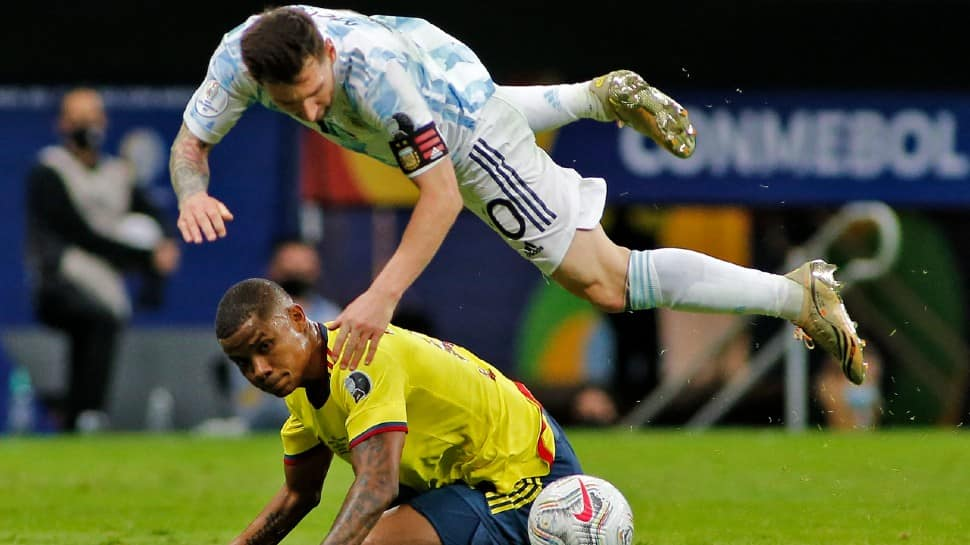 Copa America 2021: Lionel Messi plays on with a bleeding ankle against Colombia in semis