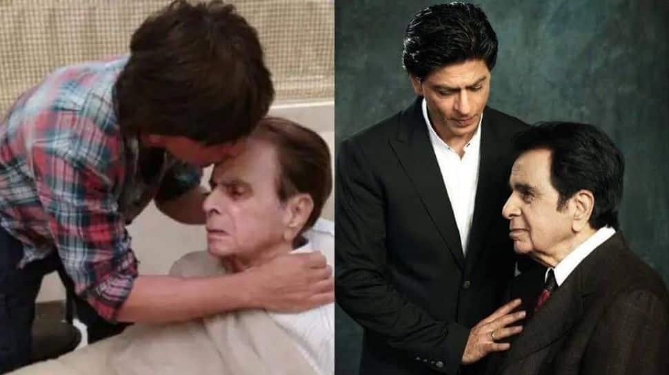 When Shah Rukh Khan rolled the red carpet for late legendary actor Dilip Kumar and wife Saira Banu - Watch