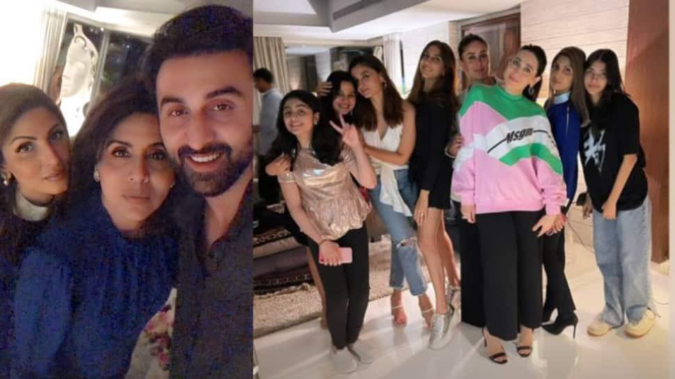 Alia Bhatt and Ranbir Kapoor ring in Neetu Kapoor's birthday with Kareena Kapoor and Karisma Kapoor - Check pics!