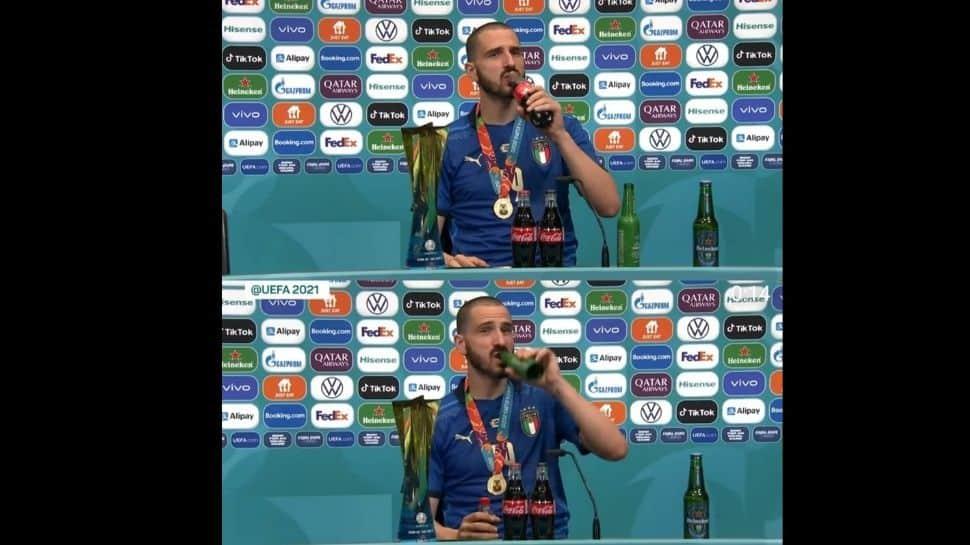Euro 2020: Unlike Cristiano Ronaldo, Italy's Leonardo Bonucci enjoys Coca-Cola after winning tournament, Watch