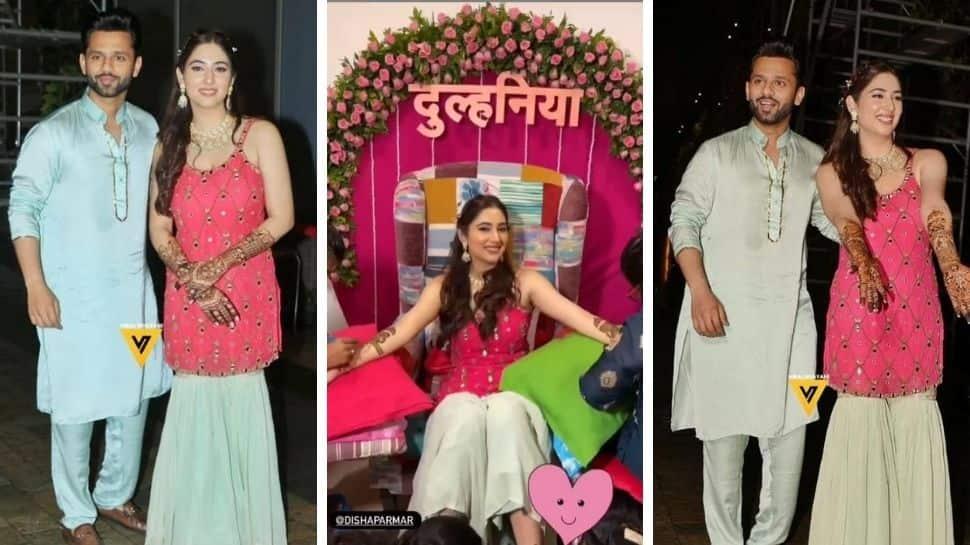 Rahul Vaidya-Disha Parmar marriage: Pre-wedding festivities begin with mehendi ceremony- Have a look!