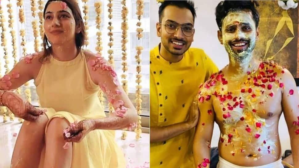 'Dishul' wedding: Rahul Vaidya-Disha Parmar's haldi ceremony pics are out and they're glorious!