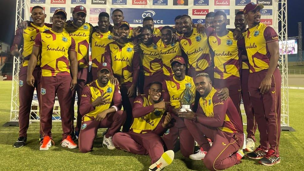 Evin Lewis stars as West Indies beat Australia by 16 runs, take T20 series 4-1
