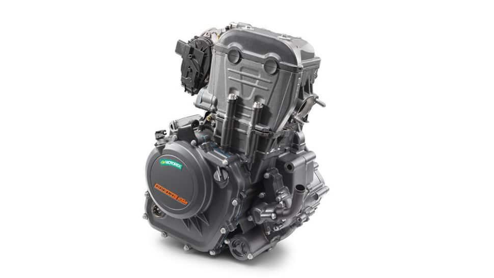 Engine of Bajaj KTM 250 Adventure bike