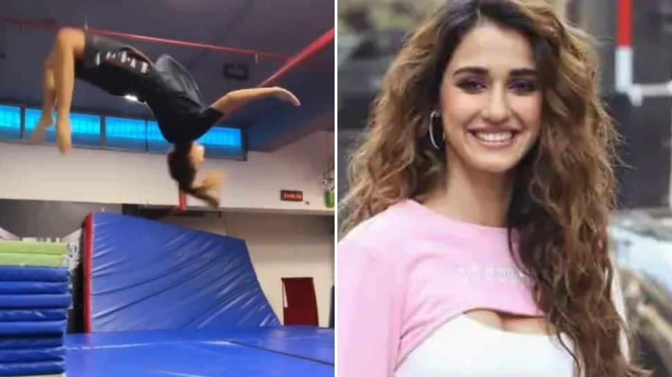 Disha Patani breaks the internet with super impressive back-flip, Sussanne Khan says 'wow' - Watch!