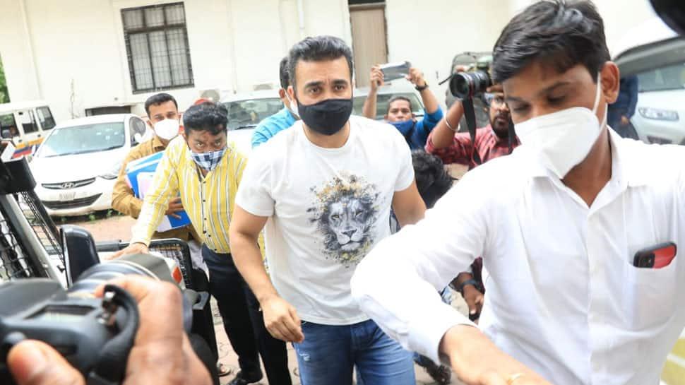 Raj Kundra sent to police custody till July 23 in pornographic films case |  People News | Zee News