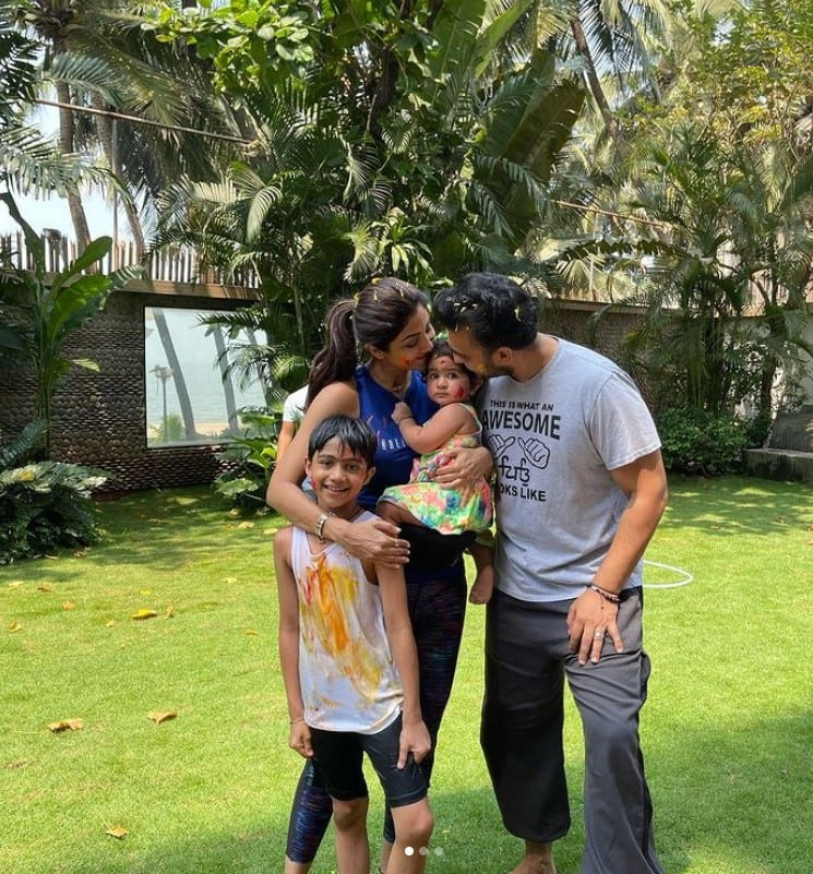 Shilpa and Raj's kids!