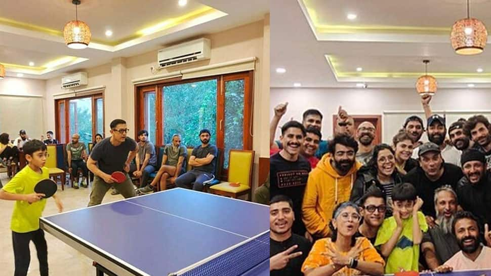 After divorce announcement, Aamir Khan and Kiran Rao play table tennis with son Azad, pics go viral!