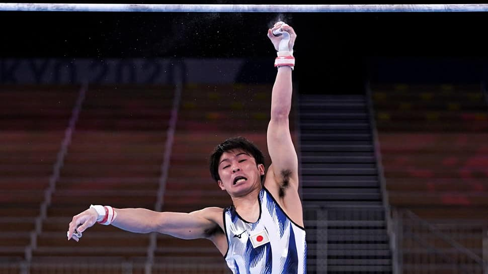 Japanese gymnast Kohei Uchimura, two-time Olympic all-round champion and seven-time Olympic medallist failed to reach the final in Tokyo Olympics. (Source: Twitter)