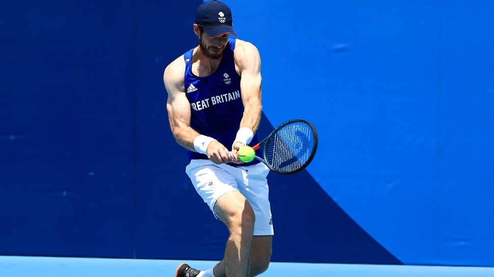 Two-time defending champion Andy Murray withdrew from the singles tournament at the Tokyo Olympics because of a right quad strain. (Source: Twitter)