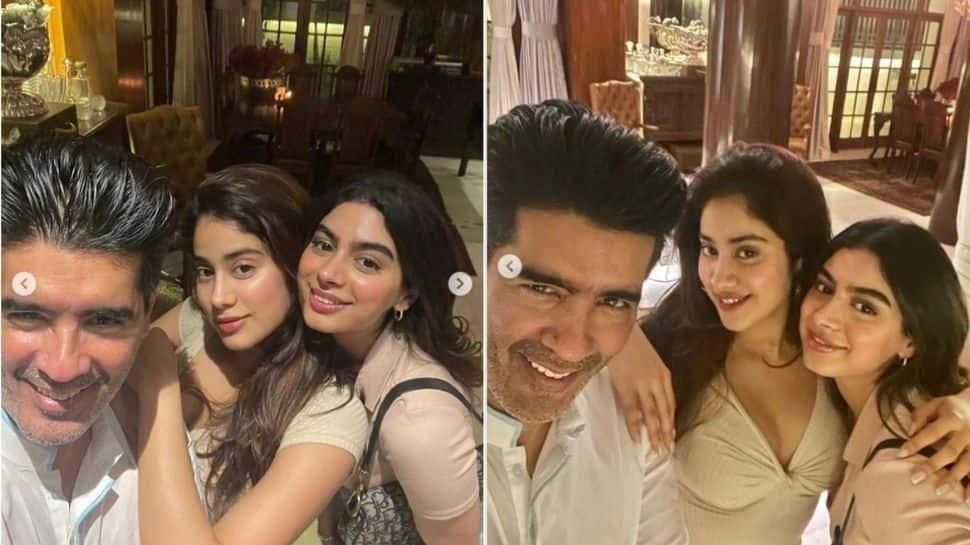 Janhvi Kapoor and Khushi Kapoor party hard at 'favourite' Manish Malhotra's house!