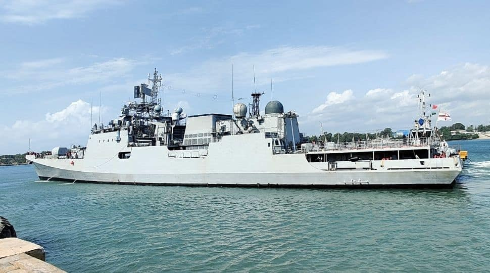 INS Talwar reaches Mombasa to participate in Exercise Cutlass Express 2021 as the annual Maritime Exercise.
