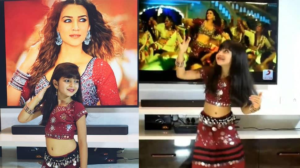 Viral video: Little girl dancing to Kriti Sanon's Mimi song Param Sundari bowls over internet – Watch