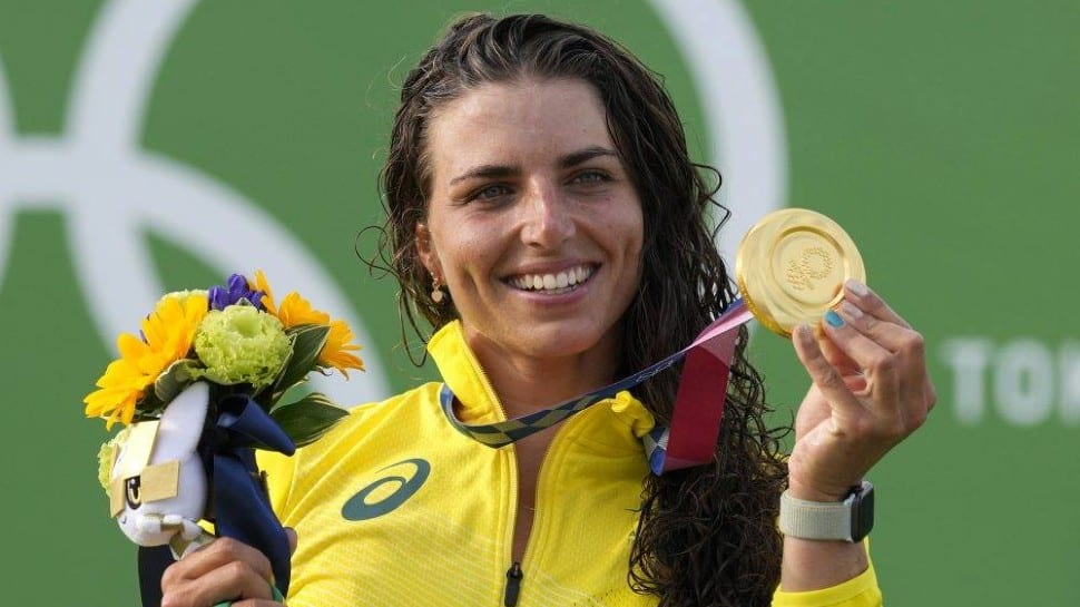 WATCH: How a CONDOM helped Australian athlete Jessica Fox win gold at Tokyo Olympics