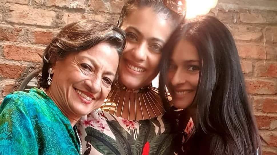 Kajol kick-starts birthday celebration with Tanishaa Mukerji and Tanuja, trio enjoys a 6 course meal
