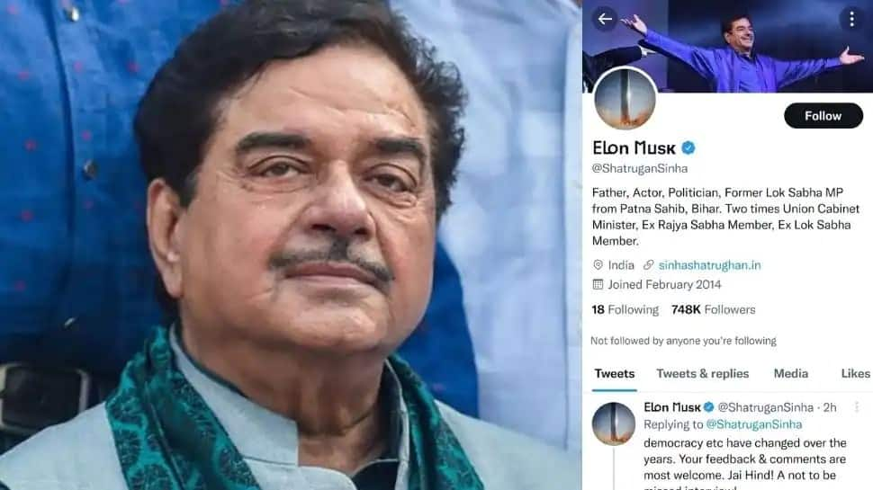 Shocking! Shatrughan Sinha's Twitter handle hacked, name changed to 'Elon Musk'