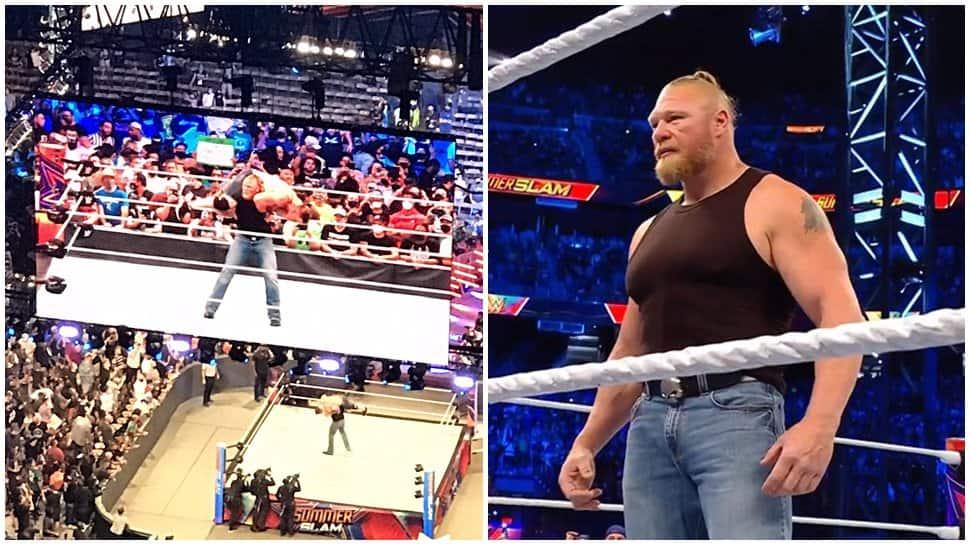 WWE Summerslam 2021: Brock Lesnar DESTROYS John Cena after confronting Roman Reigns, video goes VIRAL