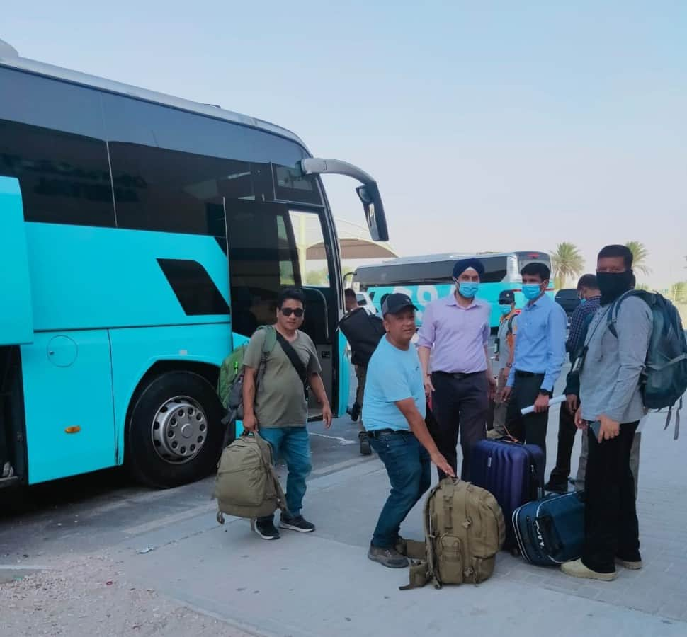 Second batch from Doha to India