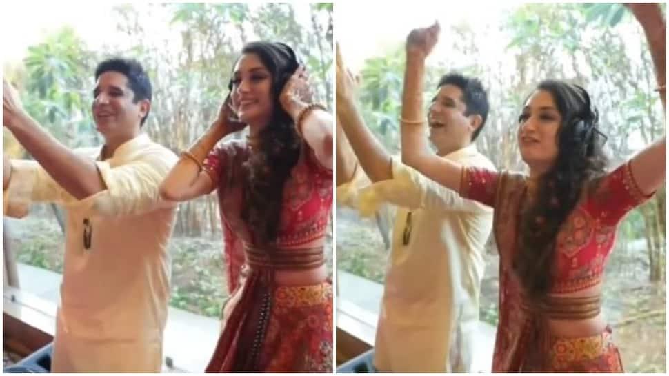 DJ Dulhaniya: Bride takes control of DJ in wedding ceremony-Watch viral video