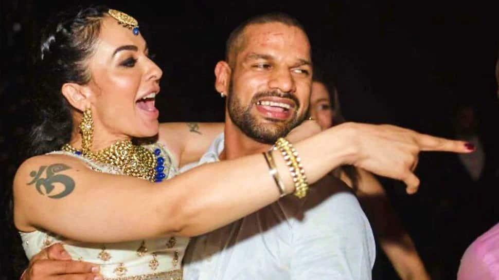 India opener Shikhar Dhawan with his ex-wife Ayesha Mukherjee. (Source: Twitter)