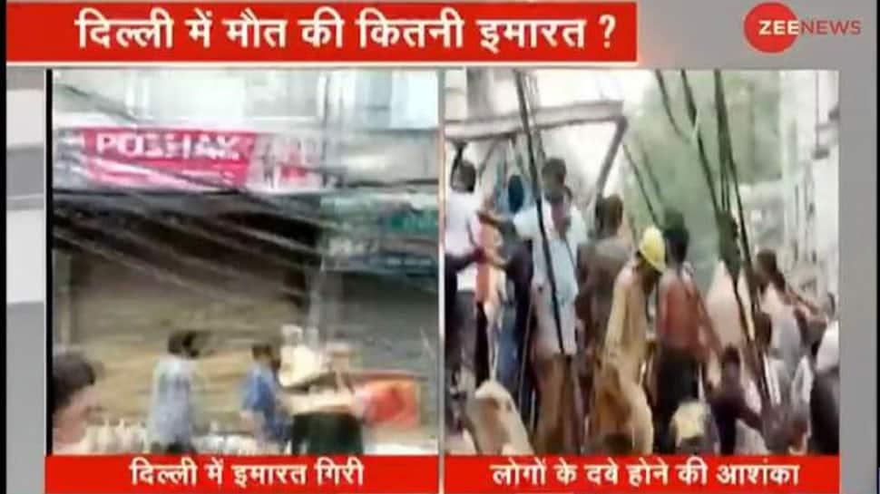 Four-storey building collapses in Delhi's Sabzi Mandi area, rescue operation underway thumbnail