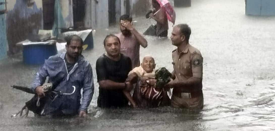 Heavy rains in Gujrat