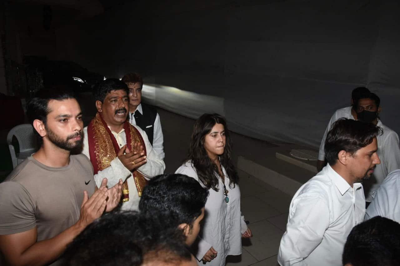 Ekta Kapoor at Ganpati Visarjan
