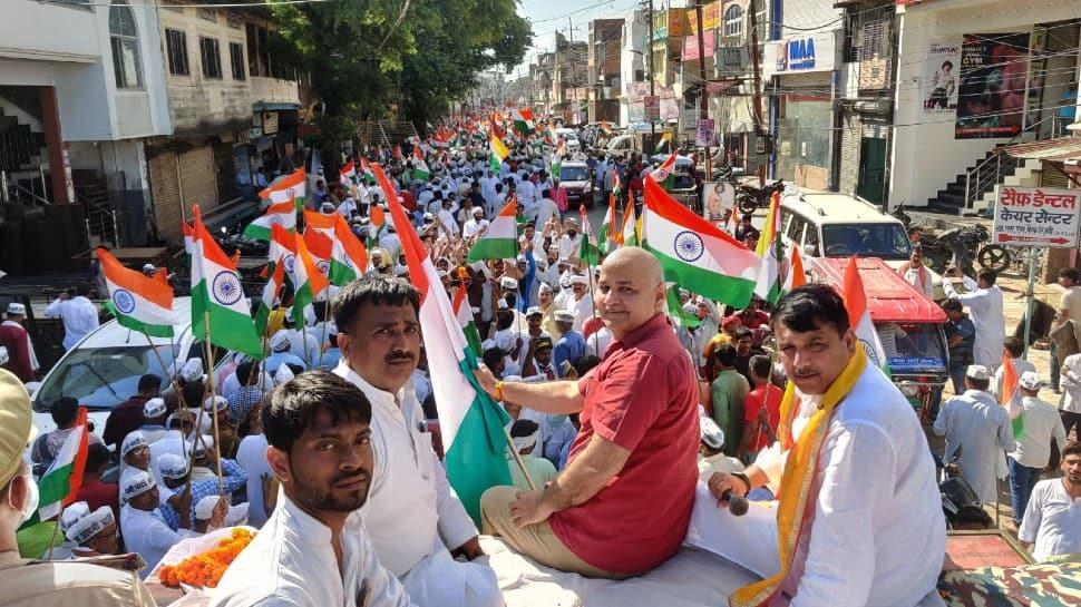 Aam Aadmi Party kicks off 'Tiranga Sankalp Yatra' in Ayodhya thumbnail