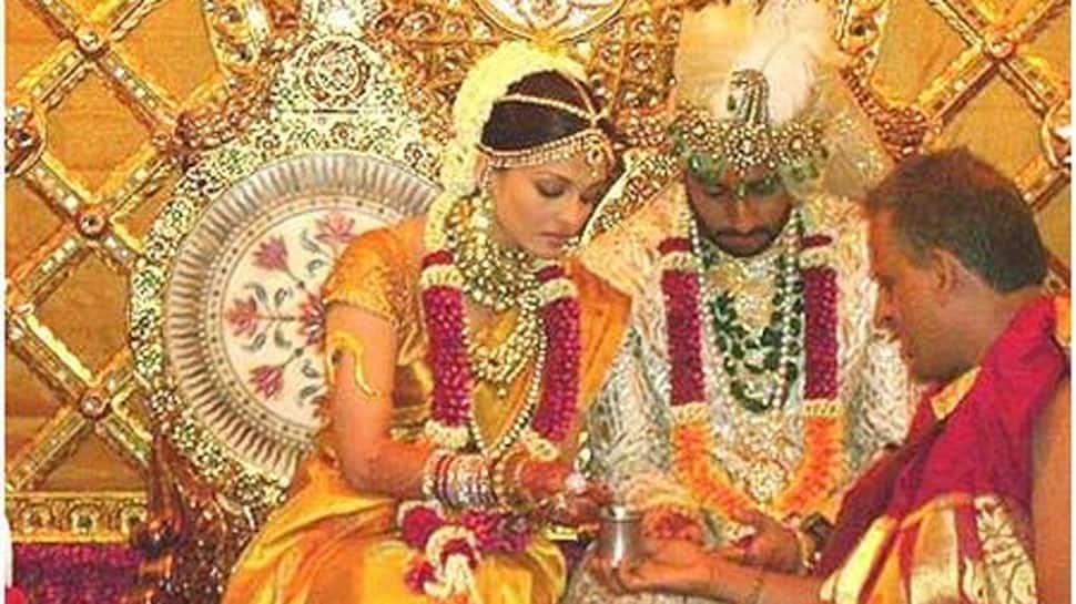Abhishek Bachchan-Aishwarya Rai's 'photoshopped' wedding photo hits internet, actor's reply is epic! thumbnail