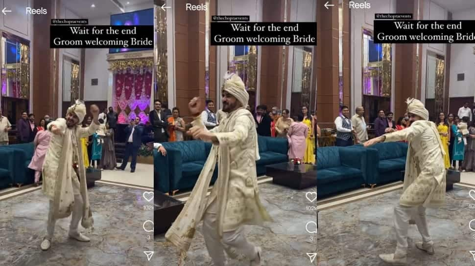 Excited dulha grooves to bhangra beats to welcome his bride, video wins hearts online - Watch thumbnail