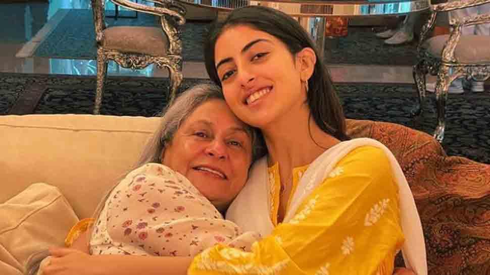 Navya Naveli Nanda, 'nani' Jaya Bachchan cuddle in latest photo, share glimpse of silver chairs