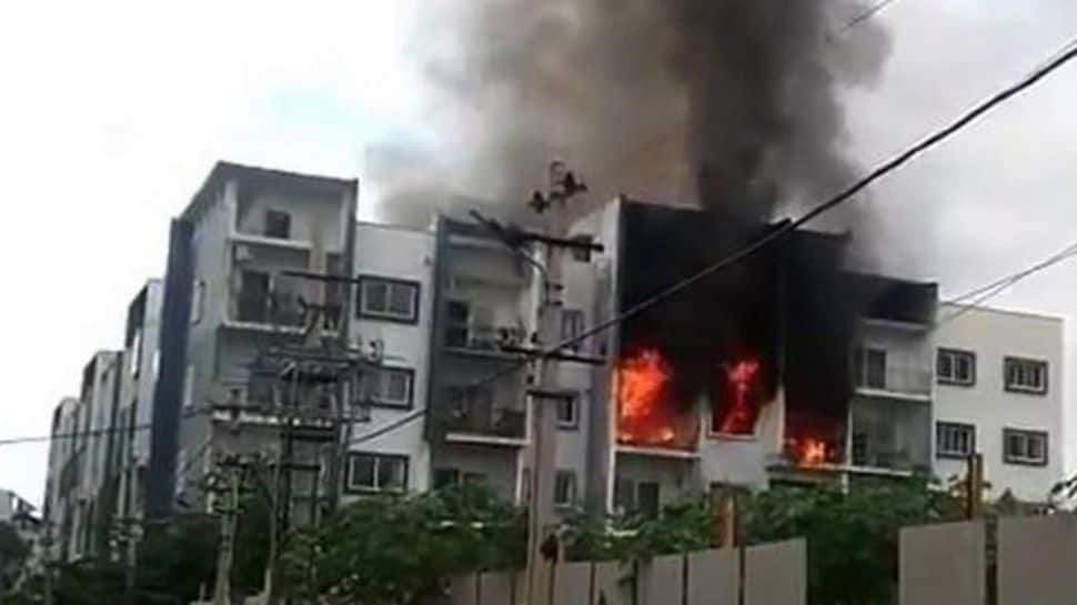 HORRIFYING video: Bangalore woman caught in apartment fire, dies