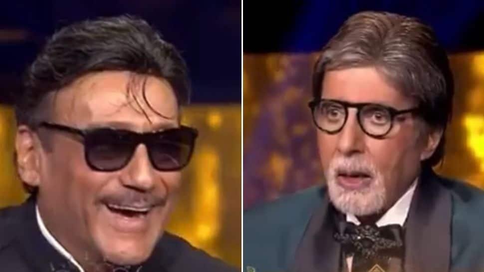 KBC 13: Amitabh Bachchan mimicks Jackie Shroff's 'Bhidu' language, asks him reason behind it!